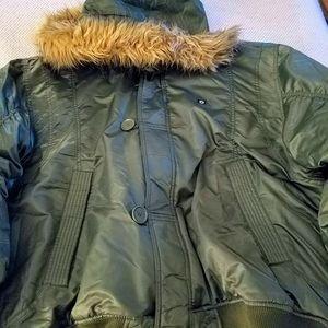 Men's South Pole Hooded Bomber Jacket